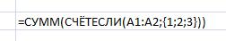 СЧЁТЕСЛИ, счетесли, Excel