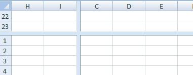 Как разделить окно в Excel